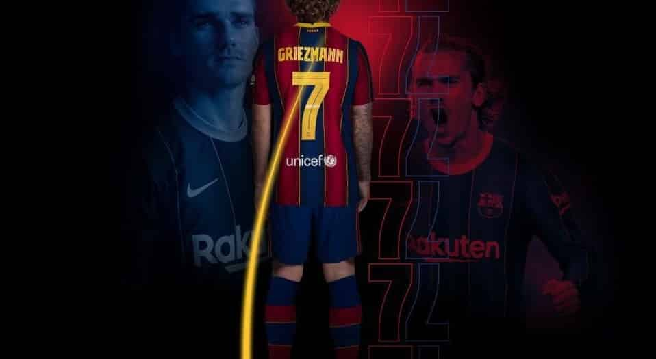 Griezmann handed Barca's no. 7 shirt