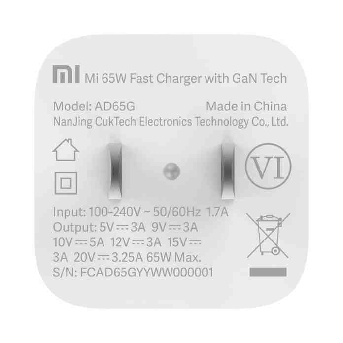 Xiaomi brings new Mi 65W Fast Charger at €29.99