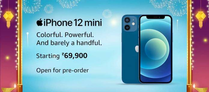 Apple iPhone 12 Mini now can be pre-ordered on Amazon India, starts at ₹ 69,900