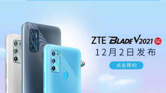 ZTE Blade V2021 5G is all set to launch on December 2 with 48MP triple rear cameras