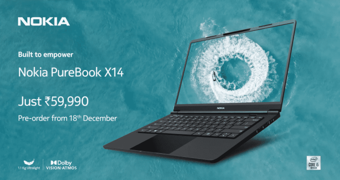 Nokia PureBook X14 with 14-inch FHD display, 10th gen Comet Lake CPU launched for ₹59,990