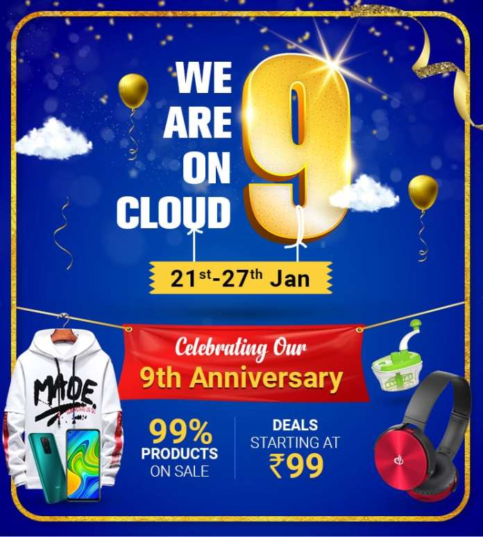 ShopClues celebrates 9th anniversary with 'We are on Cloud 9' sale from January 21- 27, 2021
