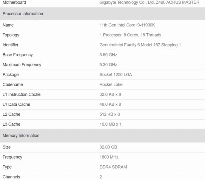 Intel Core i9-11900K makes a record-breaking single-core Geekbench score