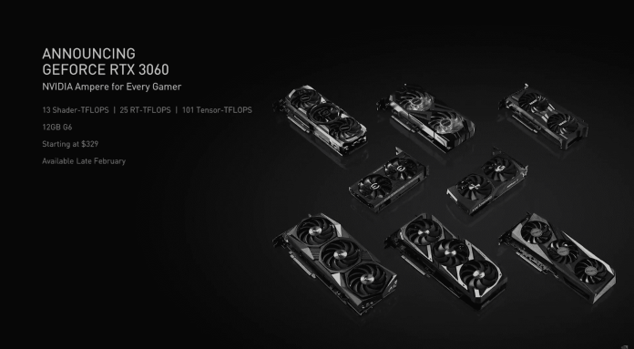 NVIDIA GeForce RTX 3060 with 12GB GDDR6 memory to launch on February 25