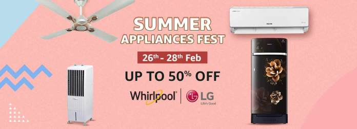 Amazon.in announces 'Summer Appliances Fest' from 26th to 28th February