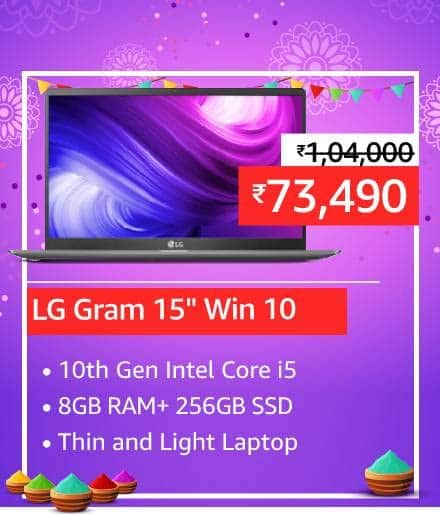 Here are the best Laptop Deals on Amazon India to explore