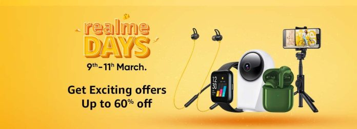 Realme Days are live in Amazon   Get Exciting Offers Up to 60% off
