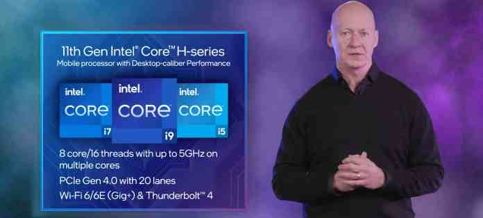 Intel shows its 8 core, 16 thread Tiger Lake-H processor in action