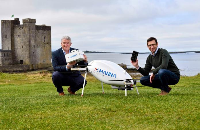 Samsung partners with Manna for Drone-Delivery Services in Oranmore