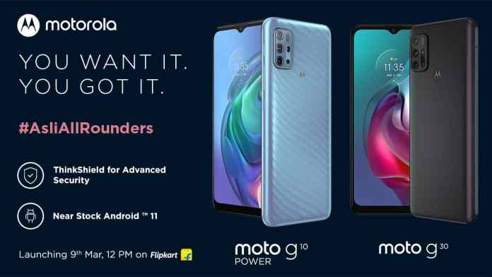 Motorola Moto G10 Power and Moto G30 launching in India on March 9