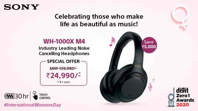 Sony India introduces Wome Day's special offer on Headphones, Earphones, BT Speakers, Soundbar and Party Speakers_TechnoSports.co.in