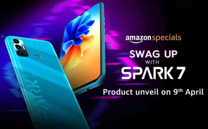 Tecno Spark 7 launching on April 9 in India