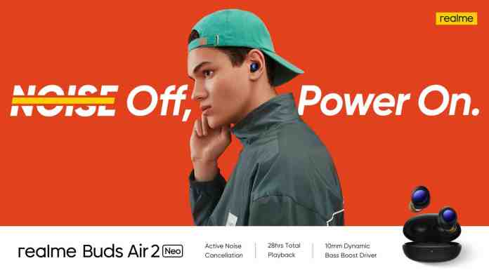 Realme Buds Air 2 Neo launched with Active Noise Cancellation in several Asian countries