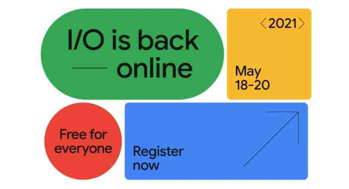Google I/O Event 2021 Live Broadcast from 18th-20th May