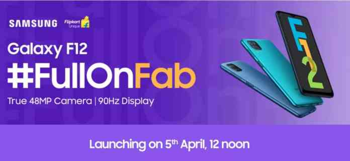 Samsung Galaxy F02s and Galaxy F12 Launching on April 5 in India