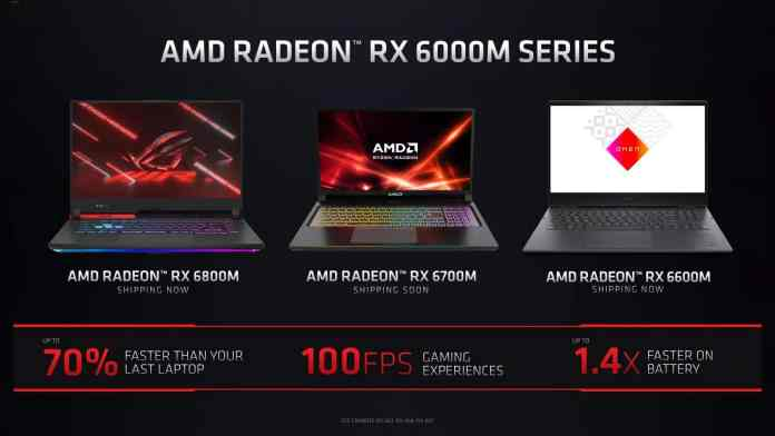 AMD Radeon RX 6000M Series Mobile Graphics with RDNA 2 launched