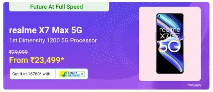 Realme X7 Max is now available at Rs.23,499 on Flipkart Big Saving Day