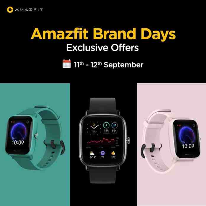 Amazfit Brand Days bringing attractive deals on Amazfit's best selling smartwatches and more_TechnoSports.co.in