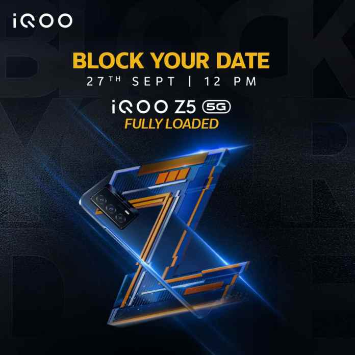 iQOO Z5 5G launching in India on 27th September