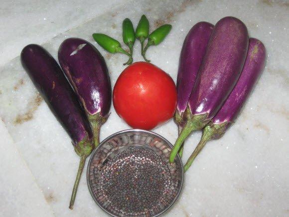 Brinjal Jhalfrezi ingredients Recipe