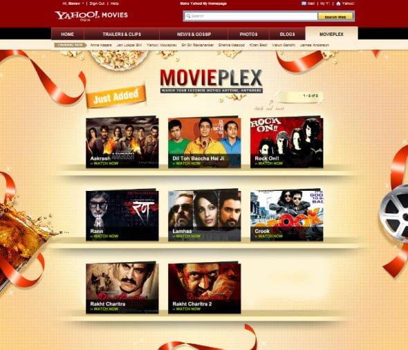 Yahoo Movieplex Bollywood Movies