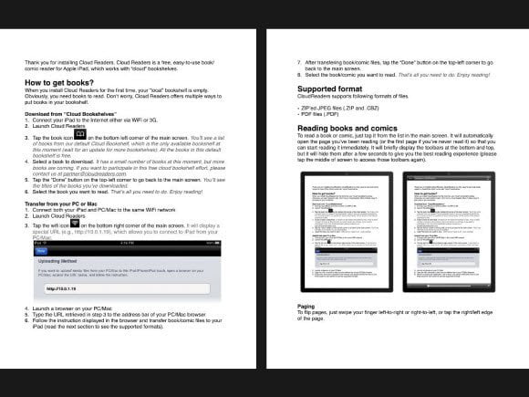 CloudReader two page reading