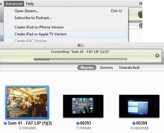 Converting Video to iPad Version