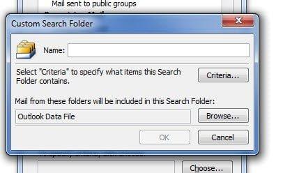 Custom Search Folder QB