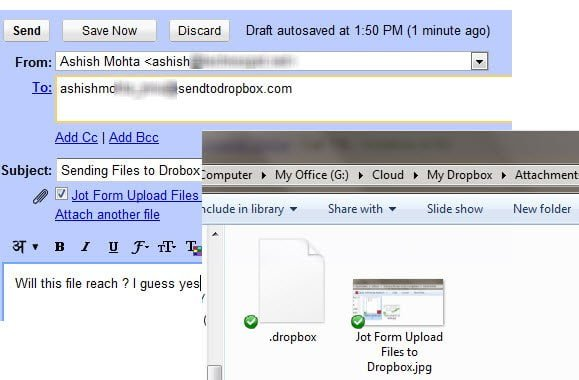 Email Files to Dropbox