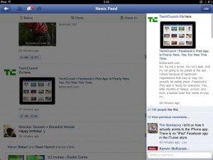 Facebook App for iPad