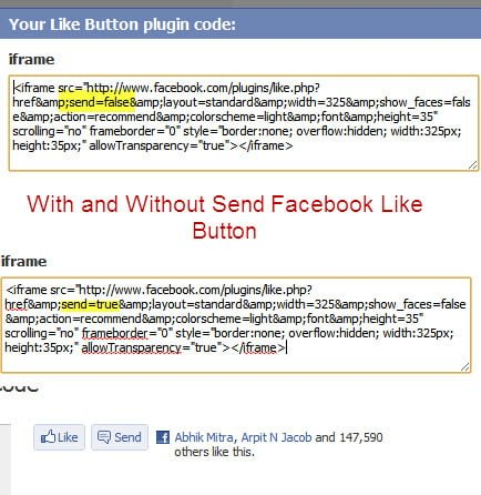 Facebook Like and Send Button