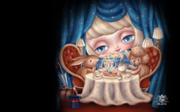 Free Download Nicole doll theme for Windows 7 for kids