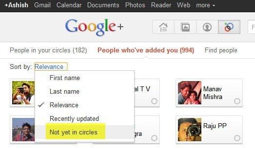 Google Plus Not yet in Circles