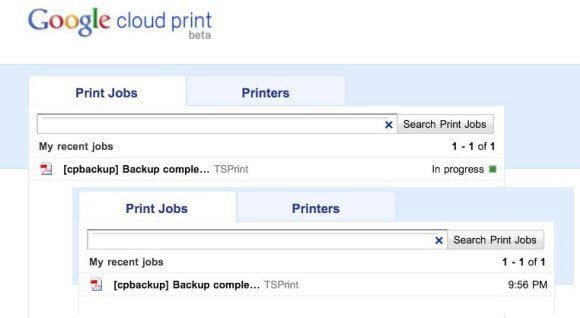 Google Cloud Print Jobs