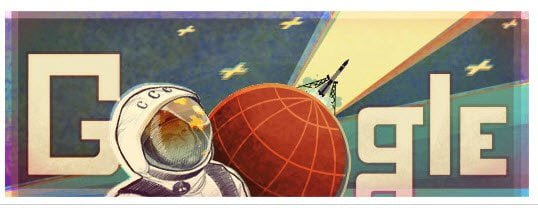 Google Doodle for Space Launch