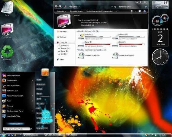 Holi Theme for Windows 7