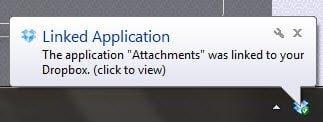 Linked Application Folder from SendtoDropbox