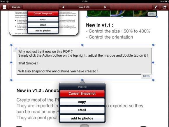 PDF Snaphsot Save to Photos