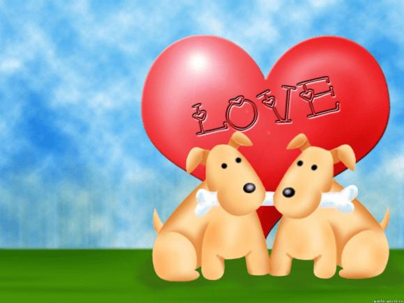 Puppy Love Wallpaper