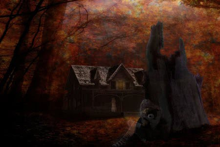 Spooky House : Scary Halloween Wallpaper