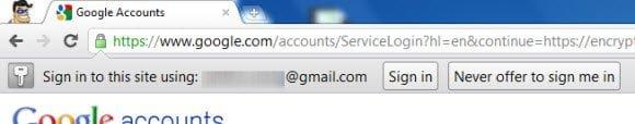 Signin to Google Accounts