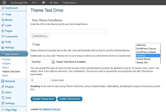 Testing Live Theme Plugin