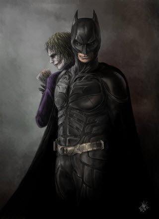 The Dark knight and The Joker