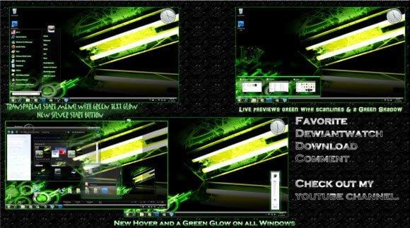 Windows 7 Green Poison Theme