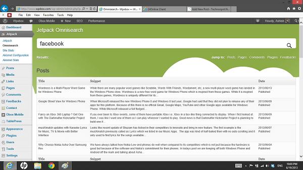 WordPress-Omnisearch