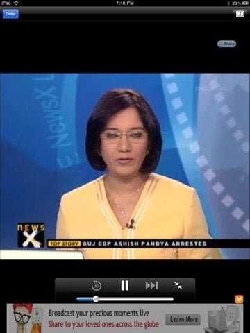 YuppTV app to Watch Indian TV channels on iPad iPhone and iPod Touch 2