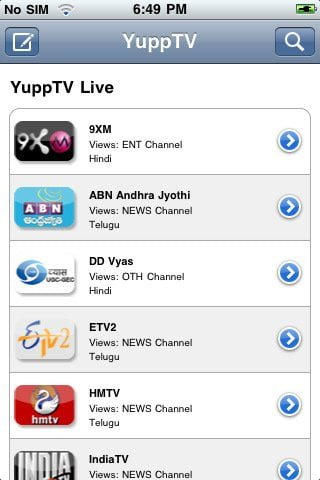 YuppTV app to Watch Indian TV channels on iPad iPhone and iPod Touch