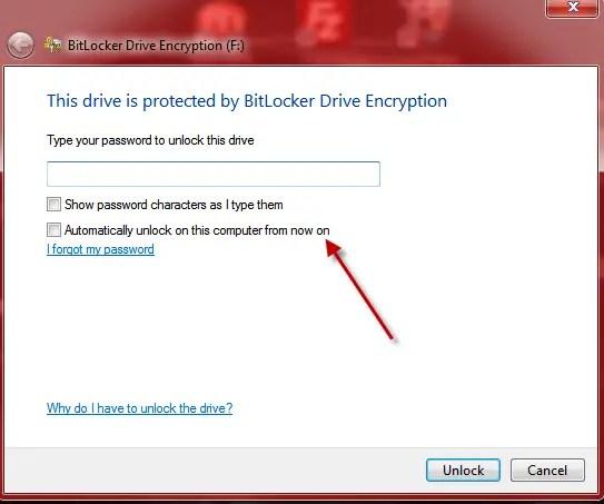 Bitlocker unlock