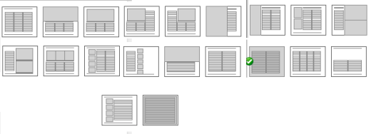 Page Layouts for book