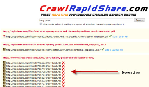 Rapid share real time search engine